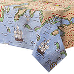 Plastic Tablecover - Treasure Map