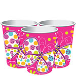 Butterfly Sparkle Cups - 255ml Paper Party Cups