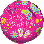 "Butterfly Sparkle Balloon - 18"" Foil"
