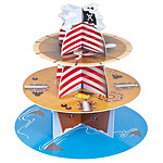 Pirate Ship Cup Cake Stand - 3 Tier