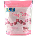 PME Candy Buttons - Pink - Vanilla Flavoured