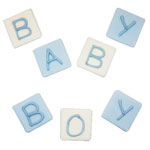 Baby Boy Letters Sugar Cake Decorations
