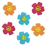 Hibiscus Sugar Toppers - Cake Decorations
