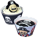 Pirate Cupcake Wraps