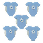 Blue Baby Grow Sugar Toppers - Cake Decorations