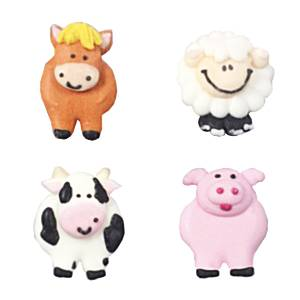 Catering Supplies Sugar Toppers - Farmyard Friends