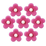 Fuchsia Flower Sugar Toppers - Cake Decorations