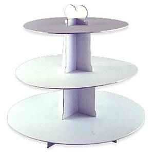 Decorations 3 Tier Card Cupcake Stand White
