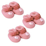 Pink Booties Sugar Toppers - Cake Decorations