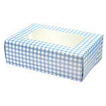 Blue Gingham Cupcake Box