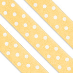 Yellow Polka Dot Cake Ribbon - 1m