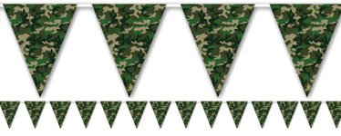 Camouflage Bunting - Plastic 3.65m