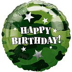"Camouflage Happy Birthday Balloon - 18"" Foil"