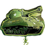 "Tank Shaped Camouflage Balloon - 26"" Foil"