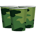 Camouflage Party Cups - 266ml Paper