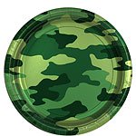 Camouflage Plates - 23cm Paper Party Plates