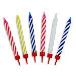 Spiral Birthday Candles - Multi Coloured