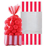 Cellophane Sweet Bags - Apple Red