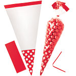 Cellophane Cone Sweet Bags - Apple Red