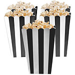 Candy Buffet Popcorn Boxes - Black