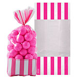Cellophane Sweet Bags - Bright Pink