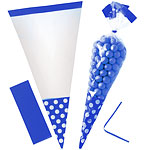Cellophane Cone Sweet Bags - Bright Royal Blue