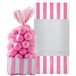 Cellophane Sweet Bags - New Pink