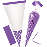 Cellophane Cone Sweet Bags - New Purple