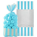 Cellophane Sweet Bags - Robins Egg Blue
