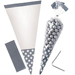 Cellophane Cone Sweet Bags - Silver