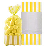 Cellophane Sweet Bags - Sunshine Yellow