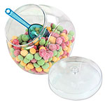 Plastic Sweet Jar with Lid - 2.3L