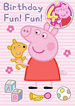 Peppa Pig 4th Birthday Card