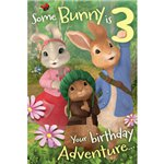 Peter Rabbit Age 3 Activity Birthday Card