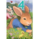 Peter Rabbit Age 4 Activity Birthday Card