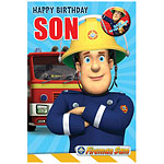 Fireman Sam Son Birthday Card