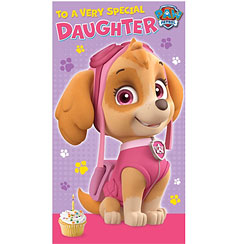 Paw Patrol Daughter Birthday Card