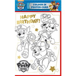 Paw Patrol Colour in Poster Card