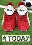 Football Boots 4th Birthday - Personalised Card