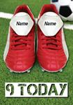 Football Boots 9th Birthday - Personalised Card