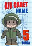 Air Cadet 5th Birthday - Personalised Card