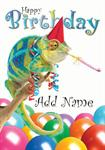Funny Chameleon Birthday - Personalised Card