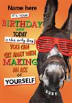 Funny Donkey Birthday - Personalised Card