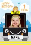 1st Birthday Little Taxi - Personalised Photo Card