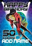 Happy 50th Chameleon - Personalised Card