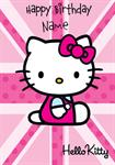 Hello Kitty Birthday - Personalised Card