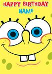 Sponge Bob Square pants Birthday - Personalised Cards