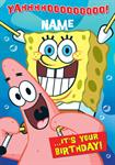 Sponge Bob Birthday - Personalised Card