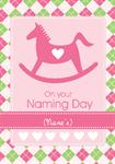 Rocking Horse Naming Day - Personalised Card