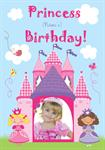 Princess Birthday - Personalised Photo Card